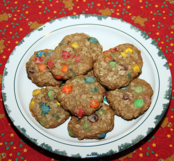 M&M Oatmeal Cookies